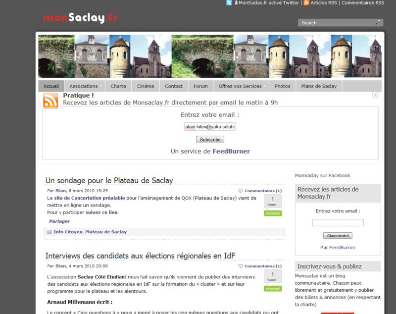 Mon saclay.fr
