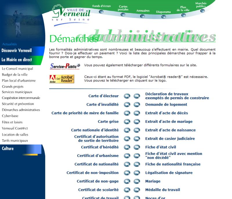 Verneuil-sur-seine - démarches administratives