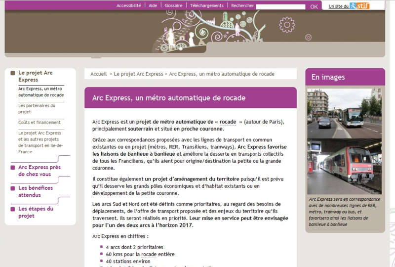 Arc express site