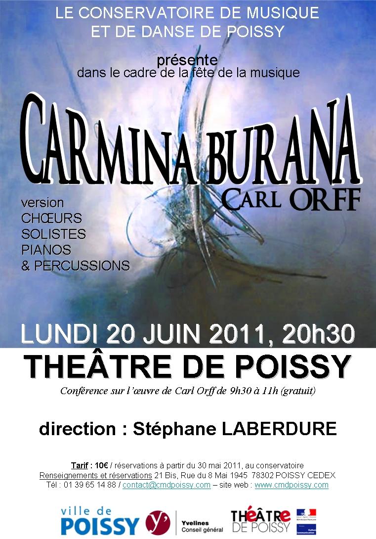 Carmina affiche poissy 20 juin 2011