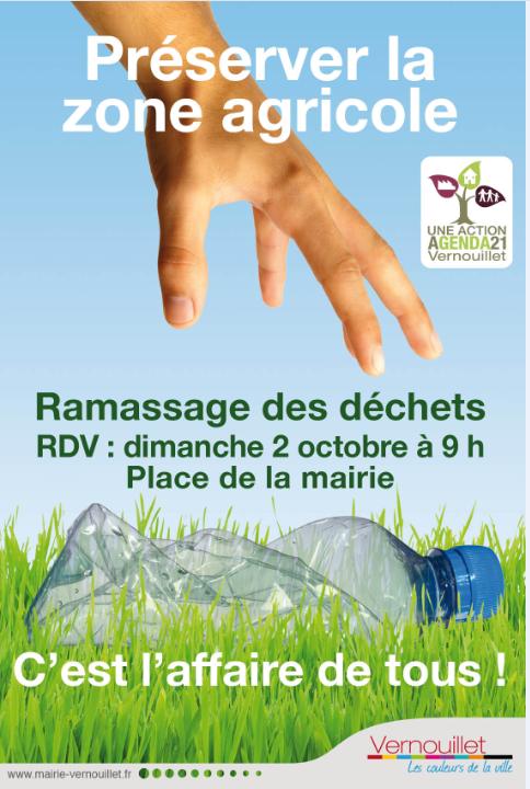 Vernouillet - zône agricole - nettoyage 2 octobre 2010