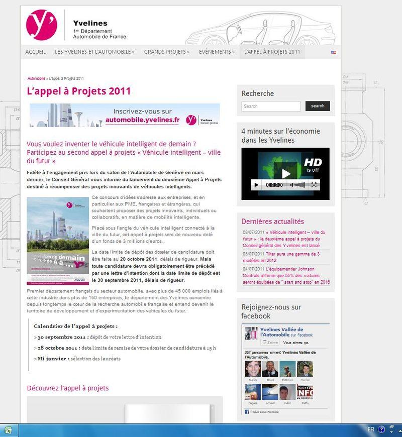 Cg 78 appel à projet 2011