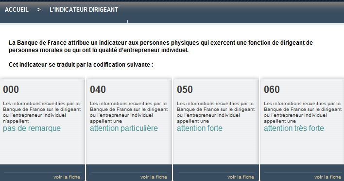 Indicateur dirigeant bdf