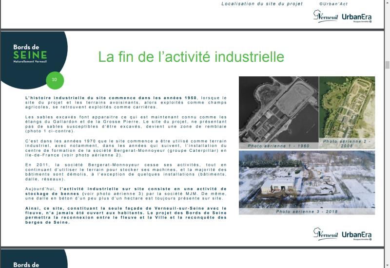 Pointe de verneuil - historique 1960-2018