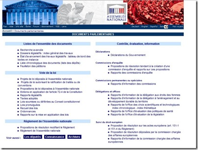 documents assemblee nationale