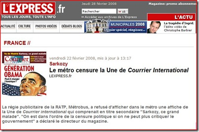 sarkozy courrier